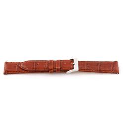 Correa de reloj de cuero genuino color coñac  12mm EX-G62