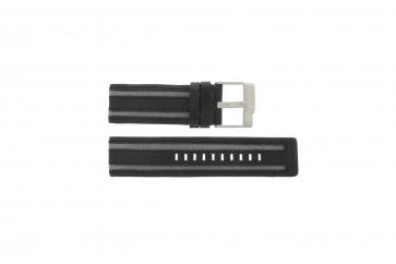 Fossil correa de reloj JR-9934 Piel Negro 26mm