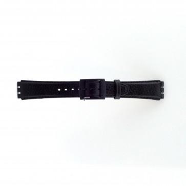 Correa para Swatch negro 17mm PVK-SC04.01