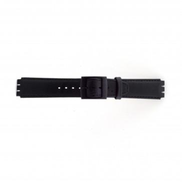 Correa para relojes Swatch negro 17mm PVK-SC11.01