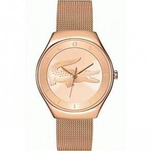 Lacoste correa de reloj 2000872 / LC-71-3-34-2538 Metal Rosa 18mm