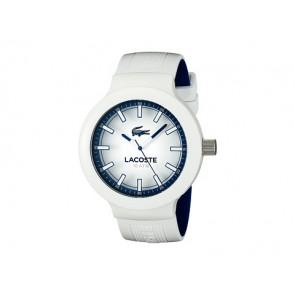 Lacoste correa de reloj 2010795 / LC-61-1-29-2588 Caucho Blanco 16mm