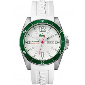 Lacoste correa de reloj 2010802 / LC-62-1-27-2592 Silicona Blanco 22mm