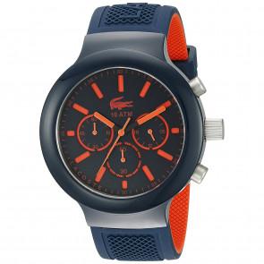 Lacoste correa de reloj 2010813 / LC-61-1-29-2601 Caucho Azul  16mm