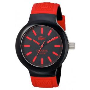Lacoste correa de reloj 2010814 / LC-61-1-29-2349 Caucho Rojo 16mm