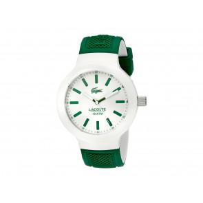 Lacoste correa de reloj 2010816 / LC-61-1-29-2350 Caucho Verde 16mm