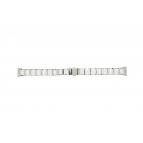 Boccia correa de reloj 3261-01 Acero/Silicona Plateado 16mm
