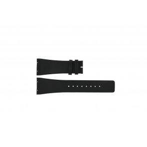Boccia correa de reloj 3541-02 Cuero Negro 20mm