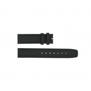 Boccia correa de reloj 3771-01 Cuero Negro 20mm + costura predeterminada