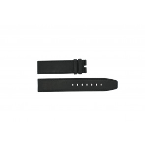 Boccia correa de reloj 3780-01 Cuero Negro 20mm + costura predeterminada