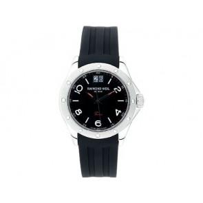 Raymond Weil correa de reloj 5595 / SU2001-5595-18 / LA-94 / V437435 / 040563 3.05 Caucho Negro 20mm