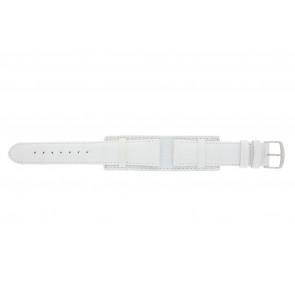 Correa de reloj 61325.11.20 Cuero Blanco 20mm + costura blanca