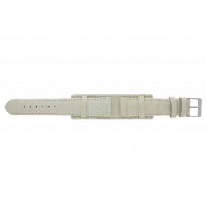 Correa de reloj 61325.12.20 Cuero Beige 20mm + costura beige