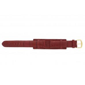 Correa de reloj 61325.45.20 Cuero Rojo 20mm + costura roja