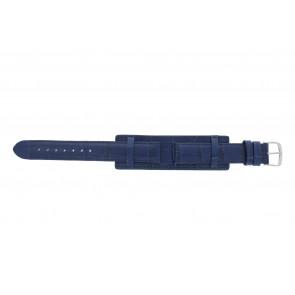 Correa de reloj 61325.55.16 Cuero Azul  16mm + costura azul