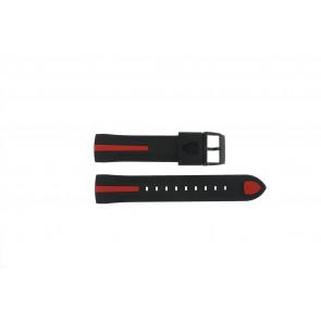 Ferrari correa de reloj SF-06-1-34-00055 / 689300018 / 80-17080186 Caucho Negro 22mm