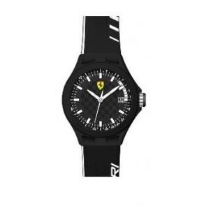 Ferrari correa de reloj SF.01.1.47.0088 / 689300072 Caucho Negro 22mm