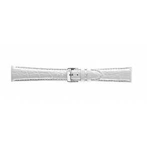 Morellato correa de reloj Amadeus G.Croc Glans U0518052017CR22 / PMU017AMADEC22 Cuero de cocodrilo Blanco 22mm + costura predeterminada