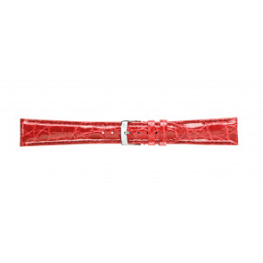 Morellato correa de reloj Amadeus G.Croc Glans U0518052083CR22 / PMU083AMADEC22 Cuero de cocodrilo Rojo 22mm + costura predeterminada