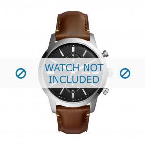 Fossil correa de reloj FS5280 Cuero Marrón 22mm + costura marrón
