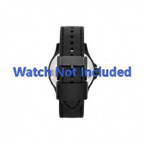 Fossil correa de reloj JR1448 Cuero Negro 22mm + costura predeterminada