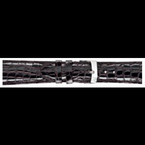 Morellato correa de reloj Amadeus XL G.Croc Gl K0518052032CR22 / PMK032AMADEU22 Cuero de cocodrilo Marrón oscuro 22mm + costura predeterminada
