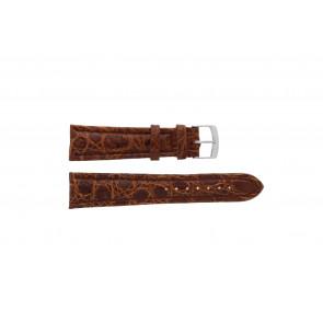 Morellato correa de reloj K0518052041CR22 Cuero de cocodrilo Marrón 22mm + costura predeterminada