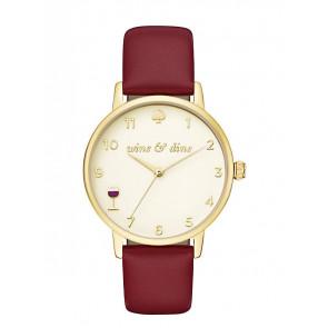 Kate Spade New York correa de reloj KSW1188 / METRO Cuero Rojo