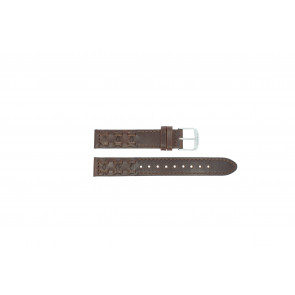 Timex correa de reloj P2N902 Cuero Marrón oscuro 16mm