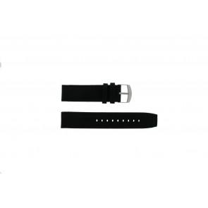 Timex correa de reloj P49863 / 49863 / T49863 Lona Negro 22mm + costura negro