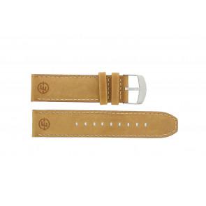 Timex correa de reloj P49991 / N49991 Cuero Cognac 22mm + costura predeterminada