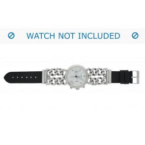 Correa de reloj 830.01.22 Short (70x40mm) Cuero Negro 22mm + costura predeterminada
