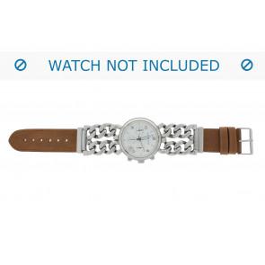 Correa de reloj 830.03.22 Short (70x40mm) Cuero Marrón 22mm + costura predeterminada