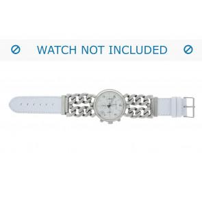 Correa de reloj 830.09.22 Short (70x40mm) Cuero Blanco 22mm + costura predeterminada