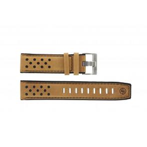 Timex correa de reloj PW2P44500 Cuero Cognac 22mm + costura negro