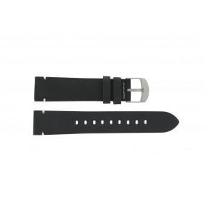 Timex correa de reloj PW4B01900 Cuero Negro 20mm + costura blanca