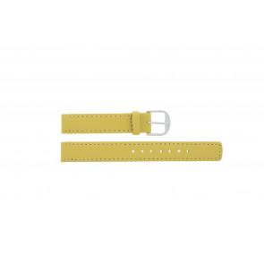 Q&Q correa de reloj QQ14LDYGS Cuero Amarillo  14mm + costura blanca