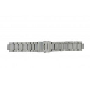 Q&Q correa de reloj QQ13ST-ZI-ST Metal Plateado 13mm