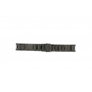 Correa de reloj QQ22ZWR Metal Negro 22mm