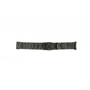 Correa de reloj QQ24ZWRD Metal Gris antracita 24mm