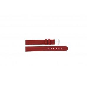 Q&Q correa de reloj QQ12LDRGS Cuero Rojo 12mm + costura roja