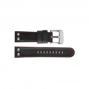 TW Steel correa de reloj TW411 / TWB411 Cuero Negro 24mm + costura roja
