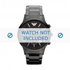 Armani correa de reloj AR2453 / Renato Large Metal Negro 22mm
