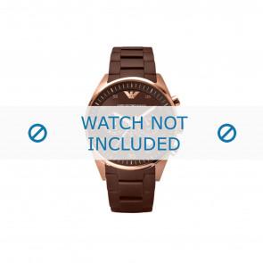 Armani correa de reloj AR5890 Acero/Silicona Marrón 23mm