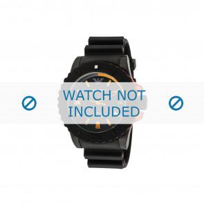 Armani correa de reloj AR5969 Caucho Negro 22mm