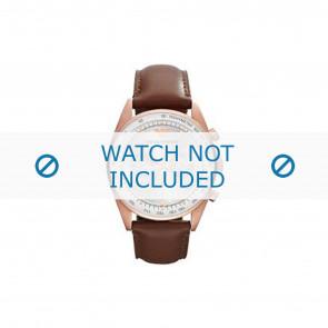 Armani correa de reloj AR5995 Cuero Marrón 22mm + costura marrón