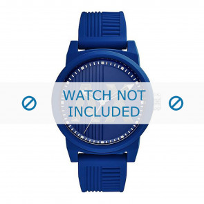 Armani correa de reloj AX1454 Caucho Azul  22mm