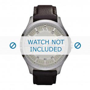 Armani correa de reloj AX2100 Cuero Marrón oscuro 22mm + costura marrón