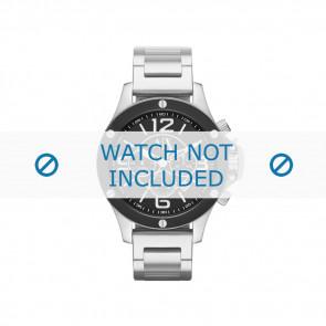 Armani correa de reloj AX-1501 Acero Palteado 22mm