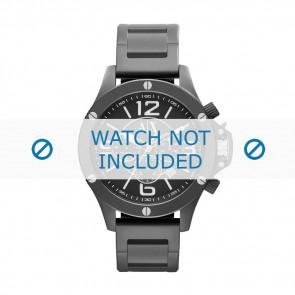 Armani correa de reloj AX-1503 Acero Negro 22mm